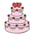 wedding cake icon cartoon vector image