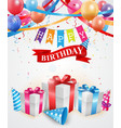 Happy Birthday greetings card vector image