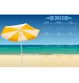 kalendar sea 12 vector image