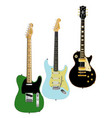 guitar collection vector image vector image