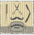 Barber shop vintage retro template vector image