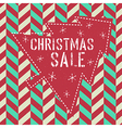 xmas sale card vector image