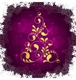 christmas golden tree vector image vector image