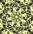 black florid pattern vector image