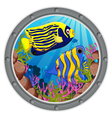 angel fish cartoon vector image vector image