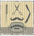 Barber shop vintage retro template vector image