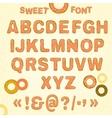 Beautiful Sweet font vector image