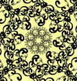 black florid pattern vector image