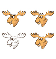 Cartoon elk vector image