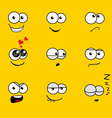 Cartoon faces vector image