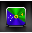 Christmas Islands flag national travel icon vector image