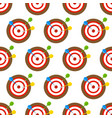 Dartboard and arrows seamless pattern vector image