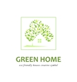 Eco friendly green houses vector image