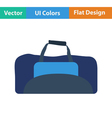 Flat design icon of Fitness bag vector image