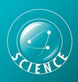 Logo atoms fly in sphere vector image