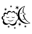 Moon and stars night icon vector image
