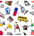 School Colored Pattern vector image