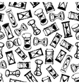 Seamless abstract hourglasses pattern vector image