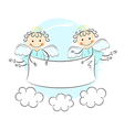 Two little angels vector image