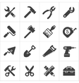 Working Tool and instrument icons white vector image