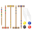 set equipment for croquet vector image