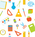 Seamless pattern with school items vector image vector image