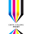 CMYK colors print presentation vector image