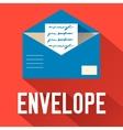 flat open envelope design concept vector image