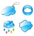 tag cloud icons vector image vector image