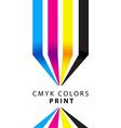 CMYK colors print presentation vector image