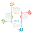 Four Steps Diagram Template vector image