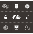 Fresh bakery icon set vector image