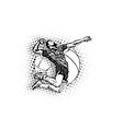 jumping volleyball player vector image