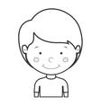 little boy smiling vector image