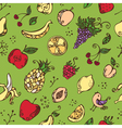 Seamless pattern of various fruits vector image