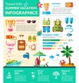 Summer Vacation Infographics - poster brochure vector image