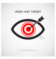 Vision and target concept eye symbol vector image