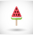 watermelon popsicle flat icon vector image