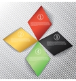 Modern business rhombus origami style options vector image