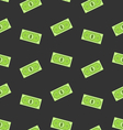 Seamless Pattern with American Money Dollars Bank vector image vector image