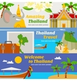 Thailand Travel Banners Set vector image vector image