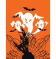 Spooky House Trick Or Treat card design vector image