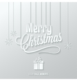 merry christmas paper cut background vector image vector image