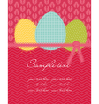 easter eggs card vector image vector image