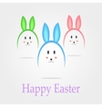 Easter eggs in the form of rabbits vector image
