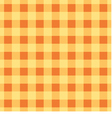 Simple plaid wallpaper The yellow brown tablecloth vector image
