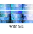 Blue watercolor gradient rectangles vector image