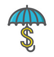 business insurance colorful line icon umbrella vector image