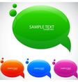 Colorful cloud for speech vector image