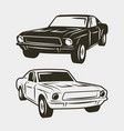 muscle car isolated on white background vector image